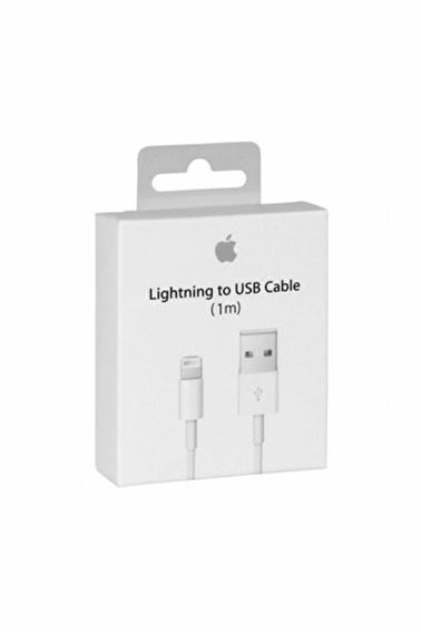 Apple Orjinal Apple iPhone X - Xr - Xs Max Şarj Kablosu Lightning Usb Data Kablo 1 Metre Md818Zm/A Renkli